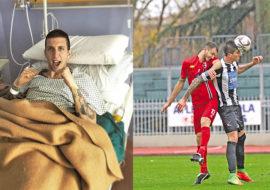Calcio, intervista all'imolese Daniele Ferri dopo l'operazione al ginocchio. «Vorrei più giocatori di Imola in rossoblù»