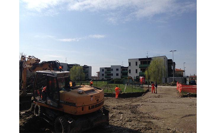 A Medicina nuovo parcheggio e ciclabile per i residenti di via Pertini