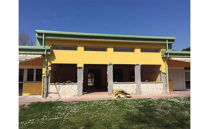 Iniziati i lavori per il miglioramento sismico della materna Rodari di Ozzano