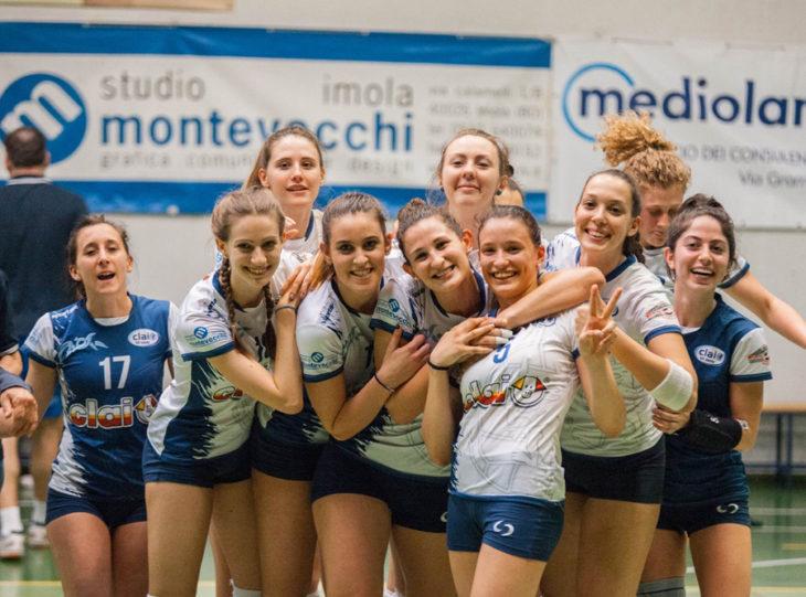 Pallavolo B2 femminile: per la Csi Clai Imola vittoria, record di punti e sabato inizia i play-off a Jesi