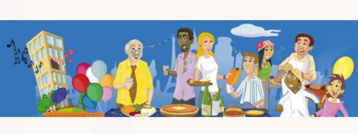 Festa dei vicini di casa, per la prima volta anche a  Dozza  si mangia e si brinda alla voglia di stare insieme