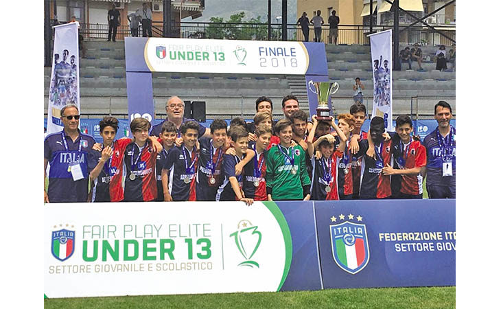 Calcio, gli Under 13 dell'Imolese sul tetto d'Italia a Formia