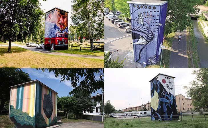 Progetto «Torre arte graffiti», a Imola terminate quattro opere su otto