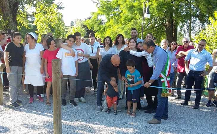 Inaugurata al laghetto Scardovi di Castello la «Lagosteria dei ragazzi speciali»
