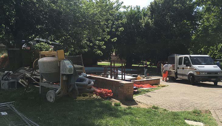 Giochi d'acqua e panchine al posto della fontana, al via i lavori nel parco della Resistenza