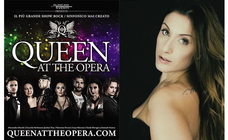 La cantante imolese Giada Maragno protagonista nello spettacolo «Queen at the Opera»