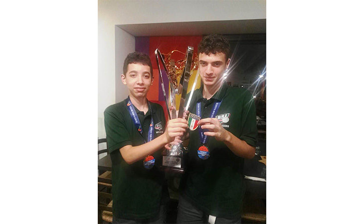 Basket Under 14, i castellani Leonardo Torreggiani e Pietro Parenti si sono laureati campioni d'Italia