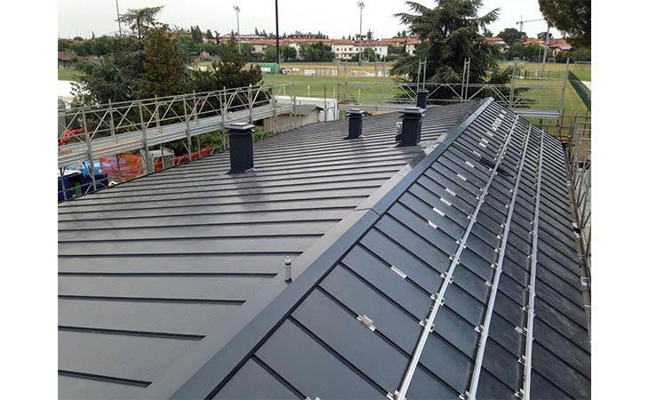 Lattoneria imolese, nuova sede in via Faenza e un tetto innovativo progettato per l'Imolese Calcio