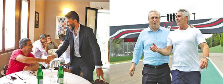 Avvistamenti famosi a Imola, ecco gli ex campioni Montoya e Doohan