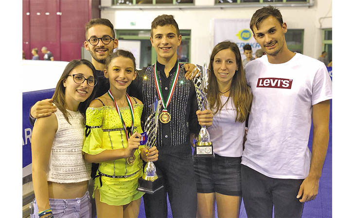 Pattinaggio, oro tricolore per l'Imola Roller con Jacopo Campoli tra le coppie «Cadette»