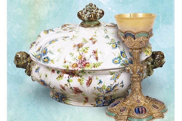 I fiori in tavola e nell'arte sacra: mostra di maioliche e non solo a Sasso Morelli per la Festa del Contadino