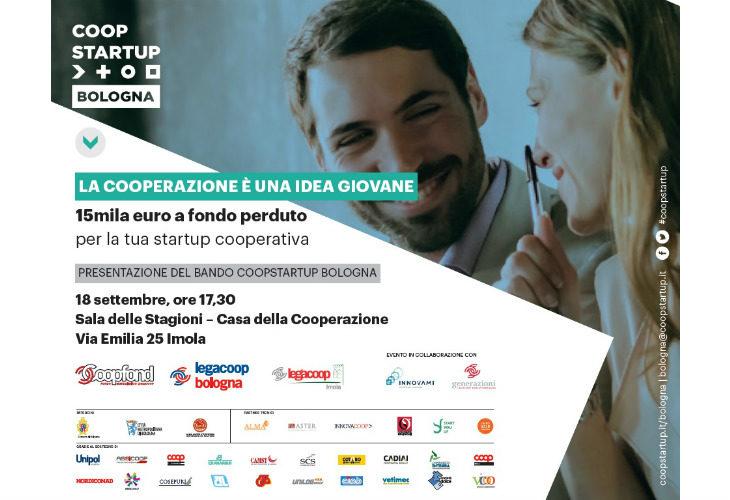 Coopstartup, il 18 settembre a Imola la presentazione del bando per sostenere i giovani cooperatori