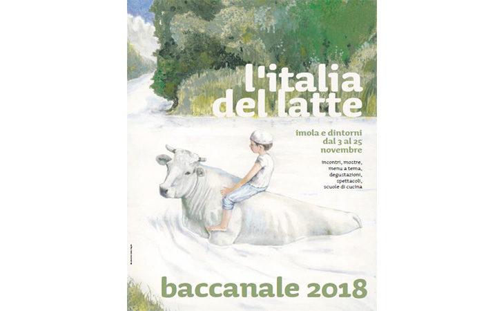 Un fiume di latte nel disegno del Baccanale 2018 dell'artista argentino Fabian Negrin