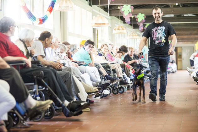 Nella casa di riposo di via Venturini ritorna la Mostra canina Città di Imola