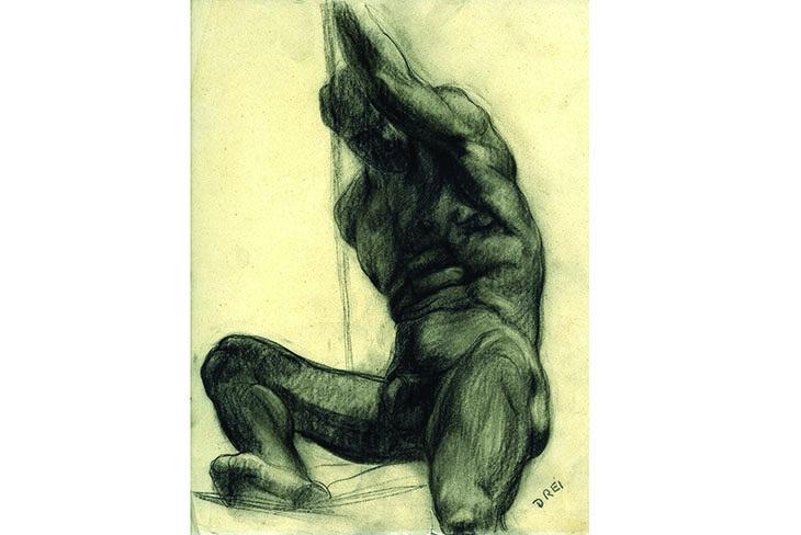 Sono in mostra i disegni di Ercole Drei donati dalla figlia alla Fondazione Crimola