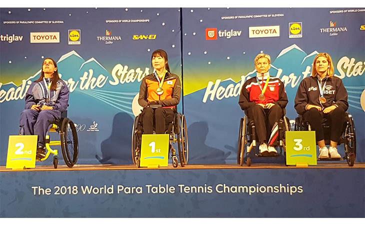 Tennis tavolo paralimpico, bronzo mondiale per l'atleta dello «Sport è Vita Montecatone» Giada Rossi