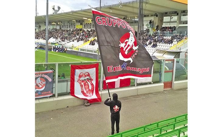 Calcio serie C, la passione per il Vicenza e la bandiera che sventola a Fontanelice