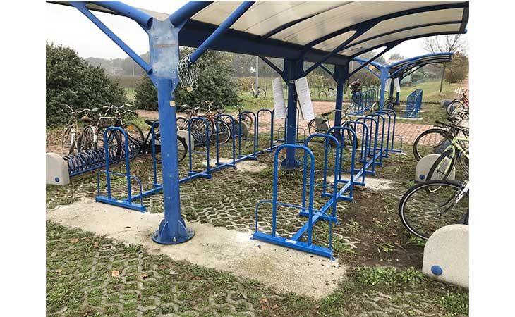Rastrelliere più sicure per le biciclette alla stazione ferroviaria di Ozzano