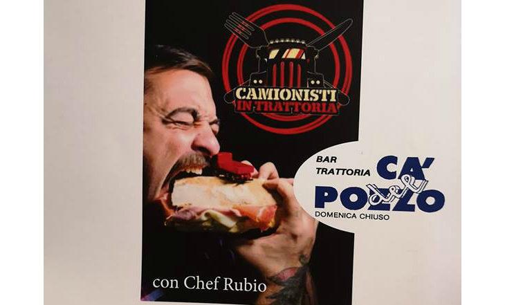 La trattoria imolese Ca' del Pozzo il 29 novembre nella trasmissione Camionisti in trattoria su Dmax con Chef Rubio