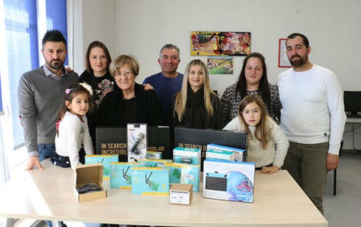 Dai «Triventini» una donazione da 1.300 euro di materiale informatico per l'ospedale di Montecatone