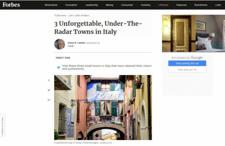 Per la rivista Forbes il borgo di Dozza è tra le mete italiane più autentiche e ricche di fascino per chi viaggia