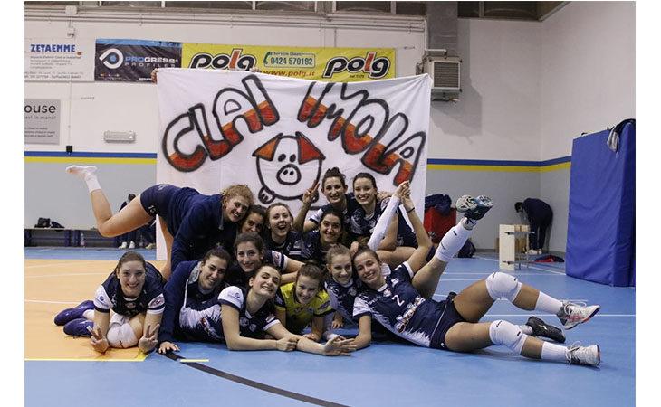 Pallavolo B2 femminile, la Csi Clai Imola vince in Veneto e «vede» le final-four di Coppa Italia