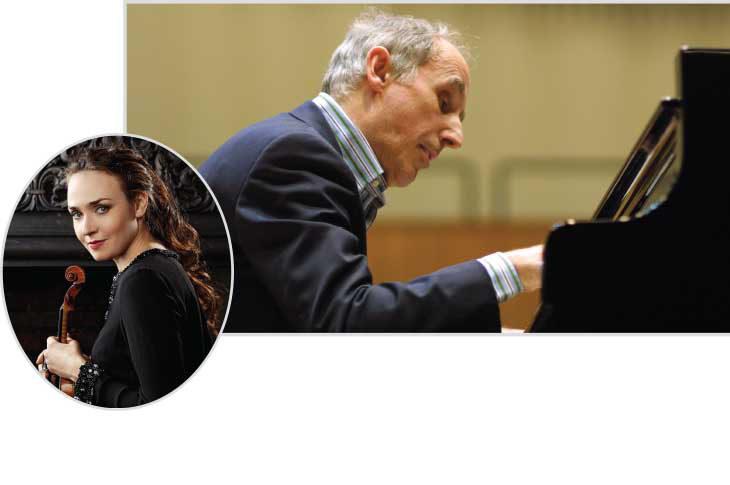 Bruno Canino e Ksenia Dubrovskaya per Erf@Casseromusica, con Brahms per pianoforte e violino