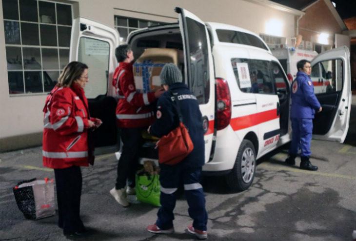 La Croce Rossa di Imola ha attivato l'unità di strada per soccorrere i clochard nelle gelide notti invernali