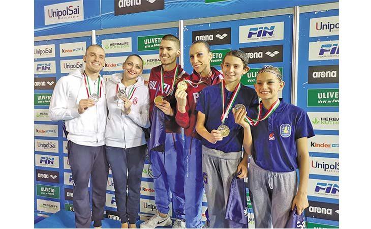 Nuoto sincronizzato, bronzo tricolore per il giovane imolese Gabriele Minak