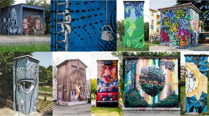 Otto cabine elettriche trasformate in opere d'arte: si è concluso il progetto Tag della società Inrete