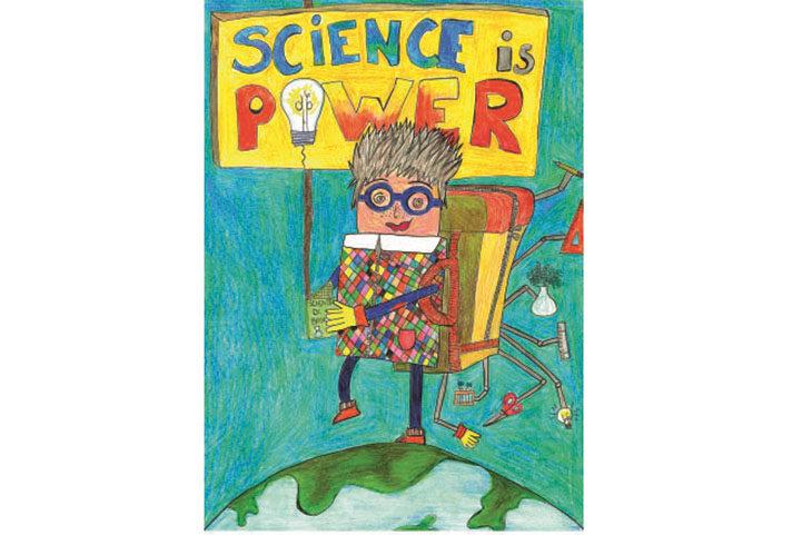 «La scienza è potere»… e divertimento con il disegno della IIG Pizzigotti per il Carnevale castellano