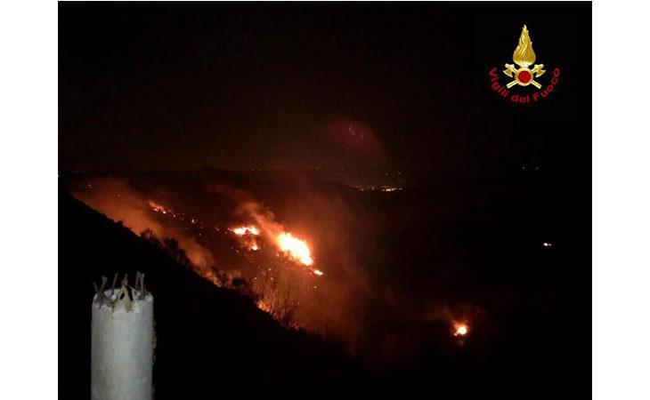 Incendio a Casalfiumanese, in fiamme cinque ettari di terreno boschivo
