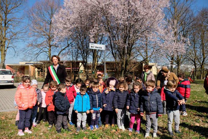 """A San Prospero è nato il """"Parco dell'Amicizia', il 30 marzo il laboratorio per realizzare i totem con le regole per l'utilizzo"""