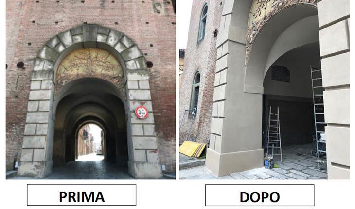 Domani riapre al transito il voltone del Cassero, terminati i lavori di restauro a Castel San Pietro
