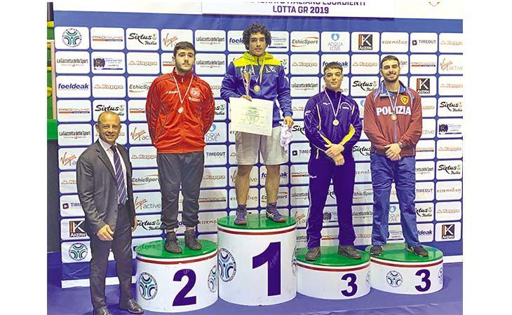 Tre medaglie per l'Unione Sportiva Imolese Lotta ai campionati italiani Juniores