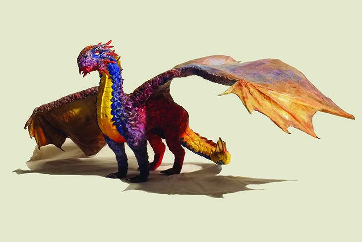 I draghi di Luigi Rimondini, creazioni di cartapesta in mostra a «Fantasticar…ta»
