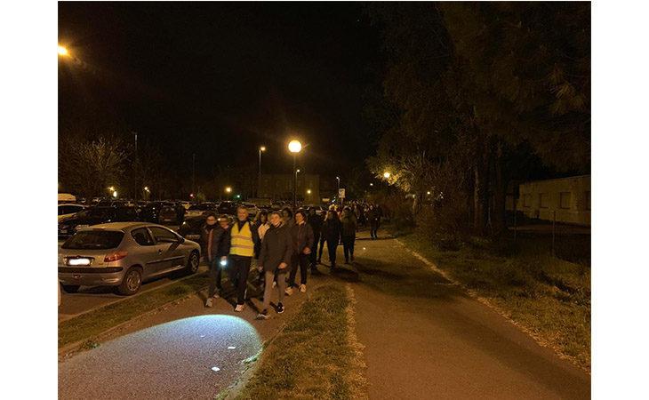 «Camminacittà», a Imola dalla Bocciofila si va in direzione «Marconi»