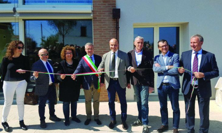 Terre Cevico ha inaugurato una nuova struttura polivalente nella Tenuta Masselina, sulle colline di Castel Bolognese