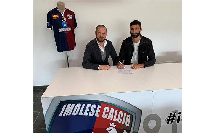 Calcio serie C, rinnovo di contratto per il difensore dell'Imolese Filippo Carini