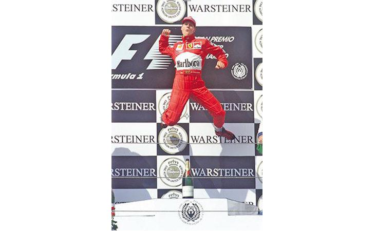 Fino al 28 aprile ingresso gratis nella conference room dell'autodromo per la mostra  «Schumacher 50»