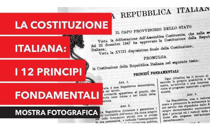 Dal 24 aprile al 5 maggio al Centro Leonardo una mostra sui principi fondamentali della Costituzione