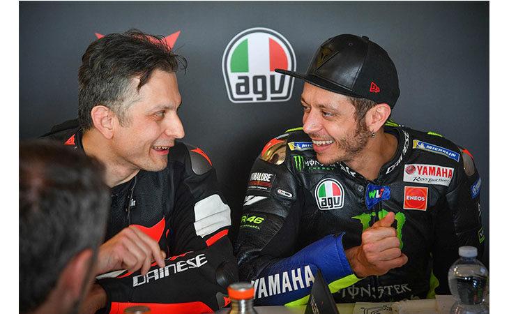 Un pomeriggio in pista con Valentino Rossi per l'imolese Stefano Costa