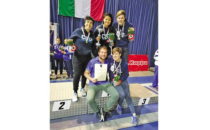 Scherma, la squadra femminile di Spada del Circolo Scherma di Imola promossa in A2