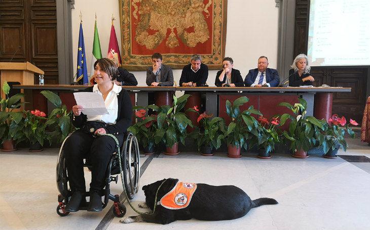 Alessandra, Lulù e la pet therapy di Montecatone protagoniste in Campidoglio a Roma