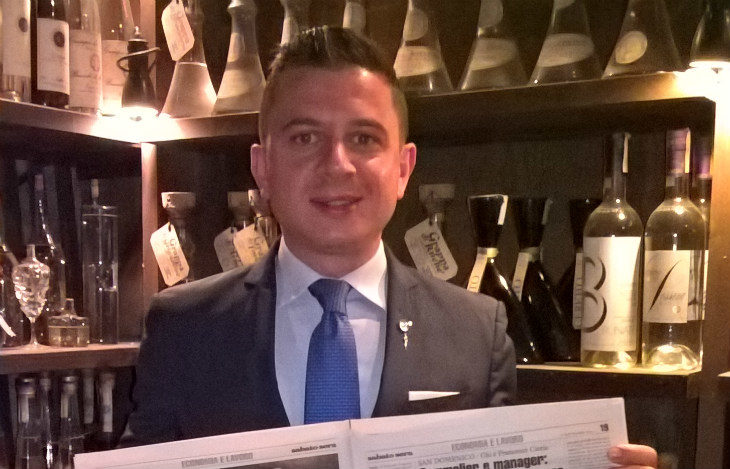 Francesco Cioria del San Domenico è il sommelier dell'anno secondo l'Academie internationale de la gastronomie