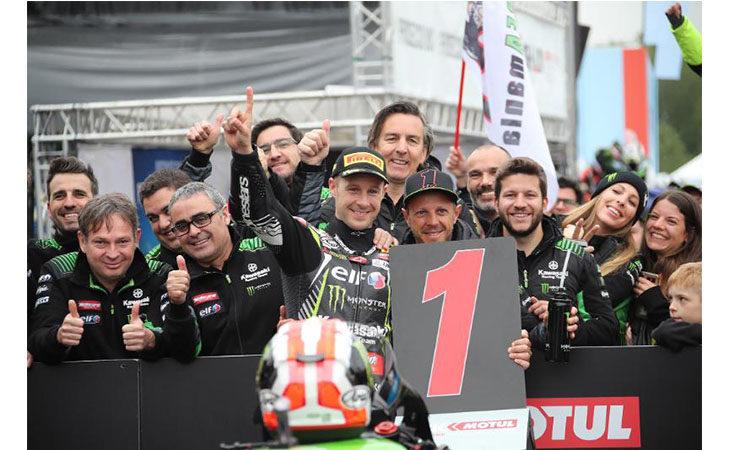 Superbike a Imola, Jonathan Rea fa sua anche la Superpole Race. Annullata per pioggia gara-2
