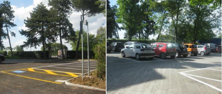 A Castel San Pietro conclusi i lavori per la risistemazione dei parcheggi di via della Repubblica e via Gramsci