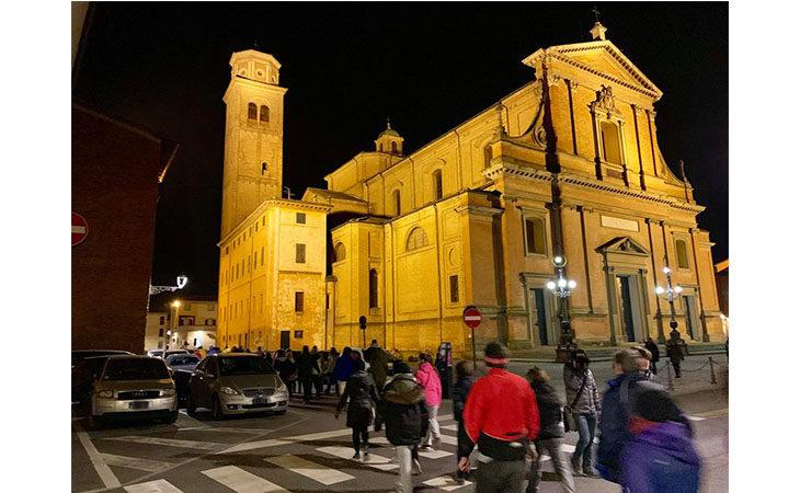 «Camminacittà», a Imola dalla Bocciofila si va in direzione «Pambera»
