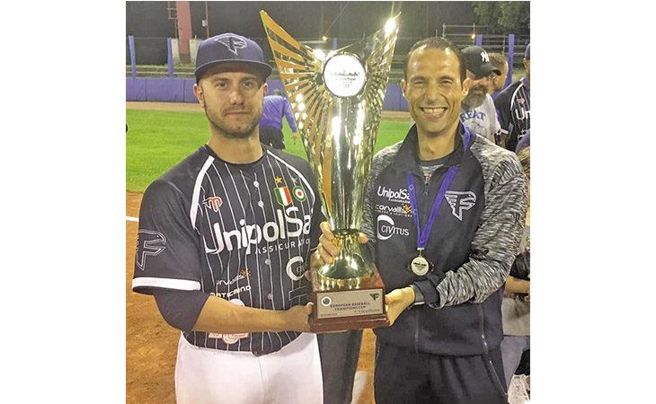 Baseball, Bassani e Pedrini festeggiano la Champions con la Fortitudo Bologna