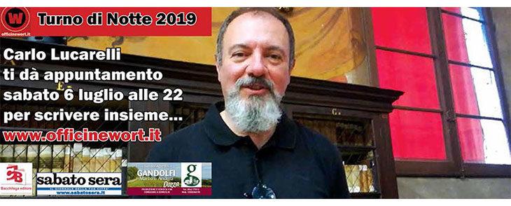 Carlo Lucarelli sta scrivendo l'incipit di «Turno di Notte 2019». IL VIDEO